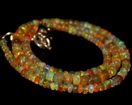 44.65 Crts Natural Ethiopian Welo Opal Beads Necklace 710