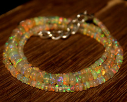 31 Crts Natural Ethiopian Welo Opal Beads Necklace 705
