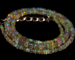 47.85 Crts Natural Ethiopian Welo Opal Beads Necklace 704