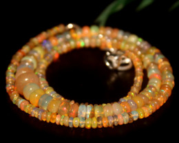 44 Crts Natural Ethiopian Welo Opal Beads Necklace 654