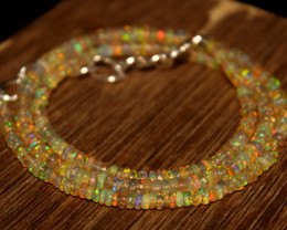 27.95 Crts Natural Ethiopian Welo Opal Beads Necklace 703