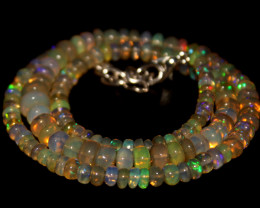 62 Crts Natural Ethiopian Welo Opal Beads Necklace 691