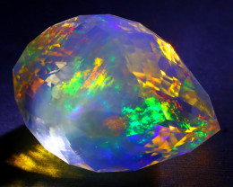 ContraLuz 34.78Ct Precision Master Cut Very Rare Species Opal DT005