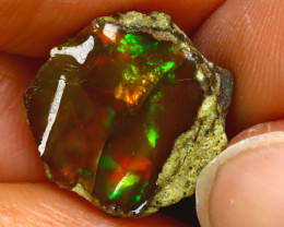 7.04Ct Multi Color Play Ethiopian Welo Opal Rough J2617/R2