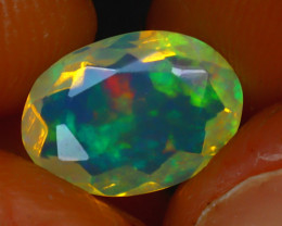 Welo Opal 1.30Ct Natural Ethiopian Play of Color Opal HR181/A44