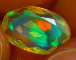 Welo Opal 1.37Ct Natural Ethiopian Play of Color Opal HR184/A44