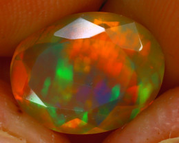 Welo Opal 2.70Ct Natural Ethiopian Play of Color Opal HR185/A44