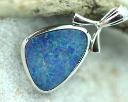 Opal Fire Doublet set in Silver 925 Pendant  Code CCC2706