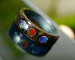 5.25 CT Unique Indonesian Crystal Wedding Ring Opal (Buffalo Horn Ring)