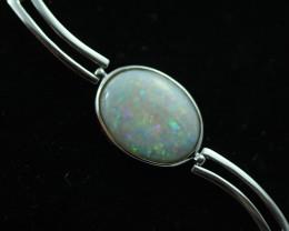 Fire Opal Crystal Bracelet set in Silver 925 Code CCC2717