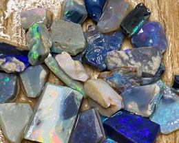 Rough Opal Lot 72.10 cts  Black Opals Lightning Ridge BORA240221