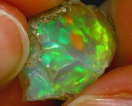 7.74Ct Multi Color Play Ethiopian Welo Opal Rough H2716/R2