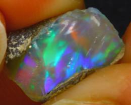 6.95Ct Multi Color Play Ethiopian Welo Opal Rough H2717/R2