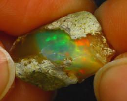 9.35Ct Multi Color Play Ethiopian Welo Opal Rough H2720/R2