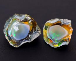 65Ct Ghost Phantom Gamble Rough Delanta Crystal Opal Rough E2404