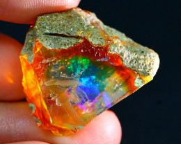 34Ct ContraLuz Flash Rainbow Gamble Rough Delanta Opal Rough E2406