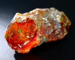 113Ct Flash Fire Gamble Rough Ethiopian Delanta Crystal Opal Rough E2410