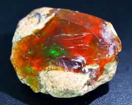 62Ct Flash Fire Gamble Rough Ethiopian Delanta Crystal Opal Rough E2411