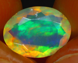 Welo Opal 1.30Ct Natural Ethiopian Play of Color Opal HR205/A44