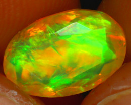 Welo Opal 1.71Ct Natural Ethiopian Play of Color Opal HR213/A44