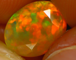 Welo Opal 1.20Ct Natural Ethiopian Play of Color Opal HR216/A44