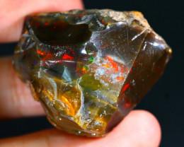 82Ct Flash Fire Gamble Rough Ethiopian Delanta Crystal Opal Rough ET015