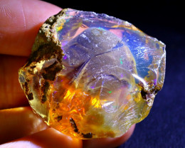 77Ct Flash Fire Gamble Rough Ethiopian Delanta Crystal Opal Rough ET006
