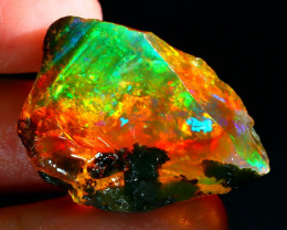 44Ct Flash Fire Gamble Rough Ethiopian Delanta Crystal Opal Rough ET020