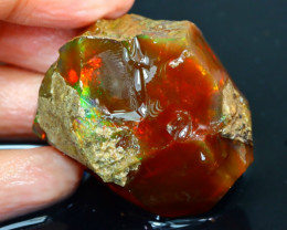 160Ct Flash Fire Gamble Rough Ethiopian Delanta Crystal Opal Rough ET025
