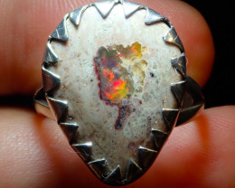 8.7sz Mexican Opal .925 Sterling Silver Ring