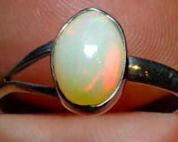 8sz Ethiopian Opal .925 Sterling Silver Ring