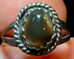 8.25sz Ethiopian Opal .925 Sterling Silver Ring