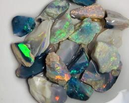 Select Multicolour Super Bright Rough Seam Opals to Cut- 48 CTs#810