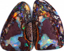 12.80 CTS BOULDER KOROIT OPAL PAIR - WELL POLISHED [BMB906]