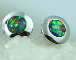 Fire Opal Cuff Links in Silver 925 Code CCC2728