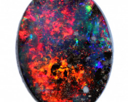 1.69 CTS BOULDER OVAL OPAL FROM JUNDAH-TOP POLISH-[BMB909]