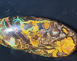 Golden swirl boulder opal