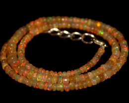 37 Crts Natural Ethiopian Welo Opal Beads Necklace 692
