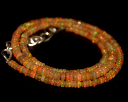 36.25 Crts Natural Ethiopian Welo Opal Beads Necklace 709