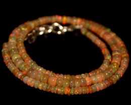 37 Crts Natural Ethiopian Welo Opal Beads Necklace 706