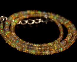 32 Crts Natural Ethiopian Welo Opal Beads Necklace 696