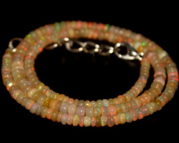 40.15 Crts Natural Ethiopian Welo Opal Beads Necklace 698