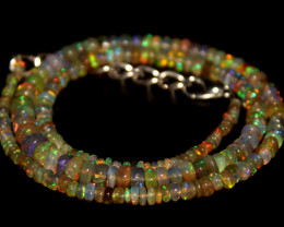 43.5 Crts Natural Ethiopian Welo Opal Beads Necklace 699
