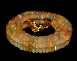 48 Crts Natural Ethiopian Welo Faceted Opal Beads Necklace 202