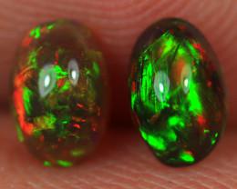 0.60CT 6X4MM Top Quality Welo Ethiopian Smoked Opal Pair-BO124