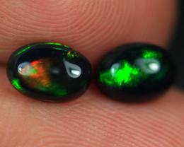 1.19CT 7X5MM Top Quality Welo Ethiopian Smoked Opal Pair-BO126