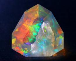 6.90Ct Aurora ContraLuz Phantom Ghost Rainbow Flash Welo Opal DD2501