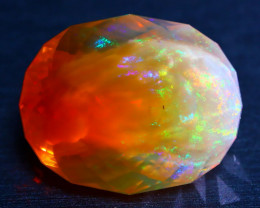 27.67Ct Ghost Phantom Fire Opal Ethiopian Precision Master Cut DD2504