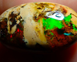 $1 NR Auction 19ct Mexican Matrix Cantera Multicoloured Fire Opal