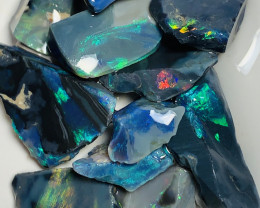 Black Opal to Cut- 74 CTs of Black Rough Seam Opals #822